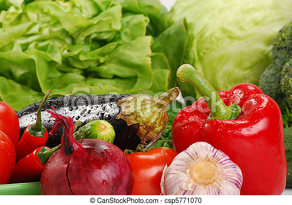 Variety of raw vegetables - csp5771070