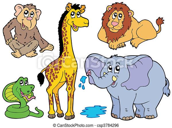 Various African animals - csp3784296