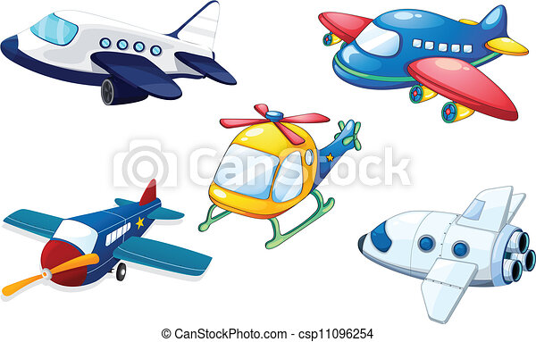 illustration of various air planes on a white background clipart rh canstockphoto com plane clip art free planets clip art free