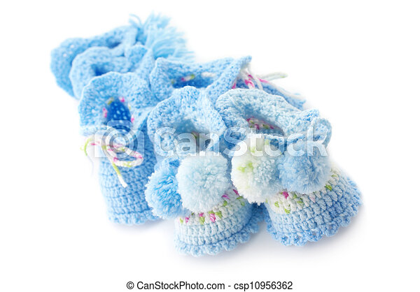 Various baby's bootees - csp10956362