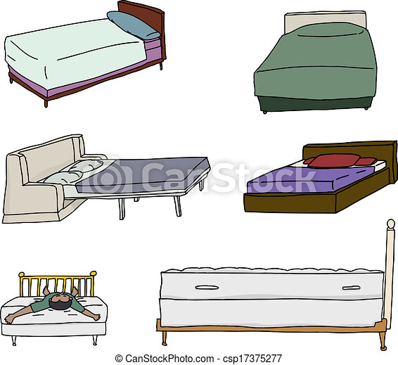various bed cartoons isolated cartoons of beds over white rh canstockphoto co uk cartoon bedtime cartoon bed socks