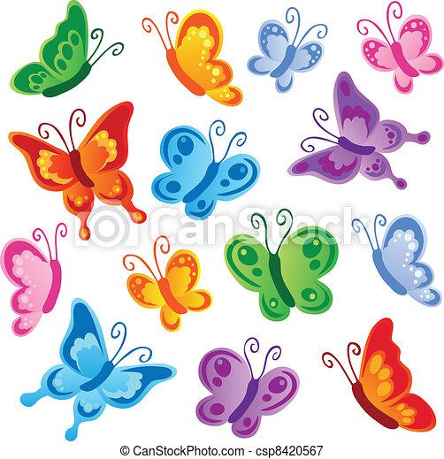 Various butterflies collection 1 - csp8420567