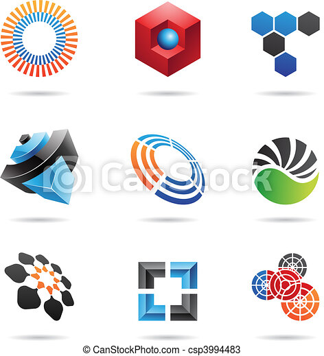 Various colorful abstract icons, Set 4 - csp3994483