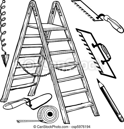 Various Construction Tools Vector