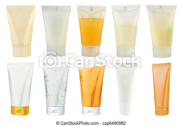 Various cosmetics packs - tubes - csp6490982