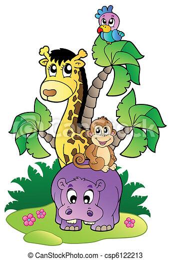 Various cute African animals 2 - csp6122213