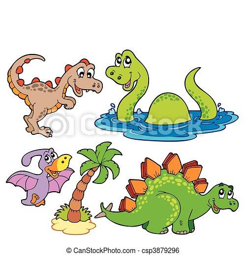 Various dinosaur collection - csp3879296