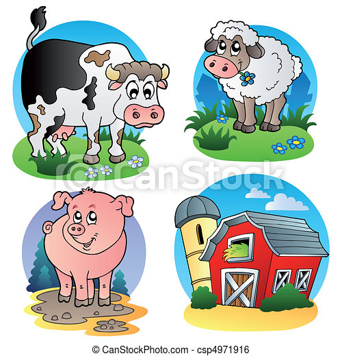 Various farm animals 1 - csp4971916