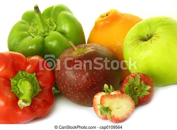 various fruit & veg - csp0109564