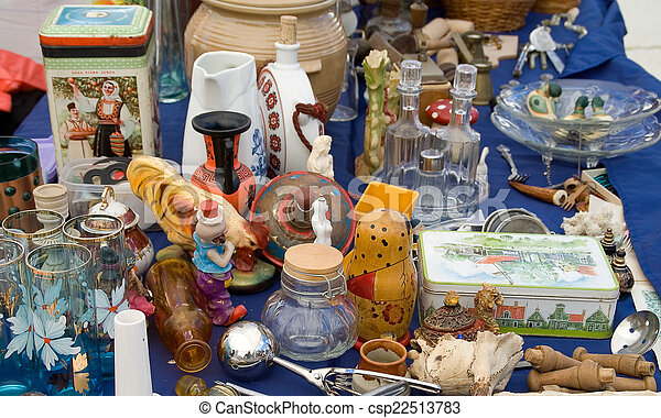Various items on the table - csp22513783