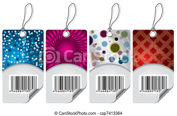 Various labels with bar-code - csp7413364