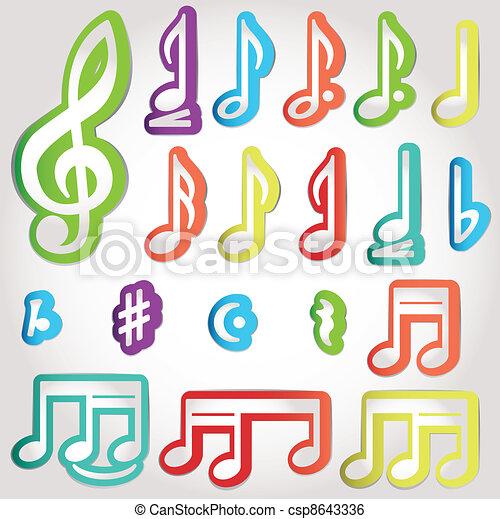 Various musical notes - csp8643336