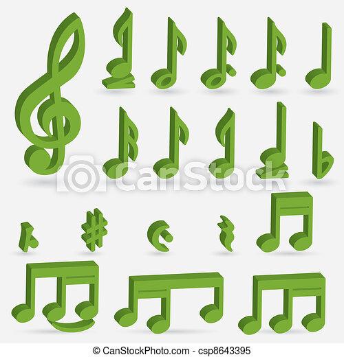 Various musical notes - csp8643395