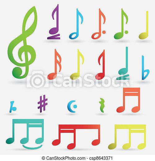 Various musical notes - csp8643371