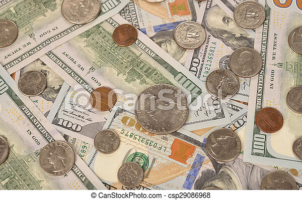 Various of coins and banknotes - csp29086968