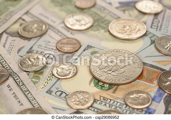 Various of coins and banknotes - csp29086952