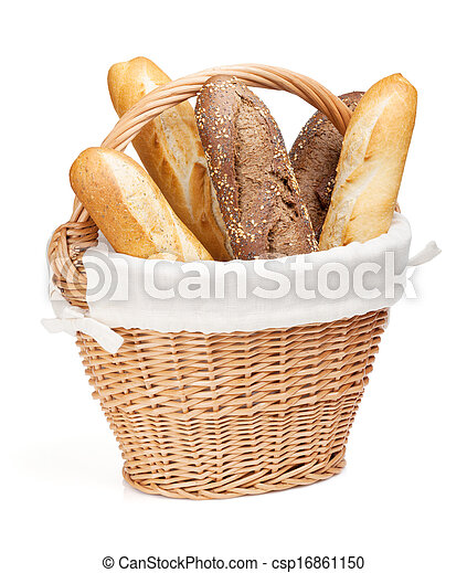 Various of french baguette basket - csp16861150