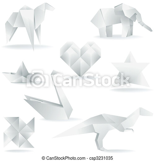 Various Origami Creations - csp3231035