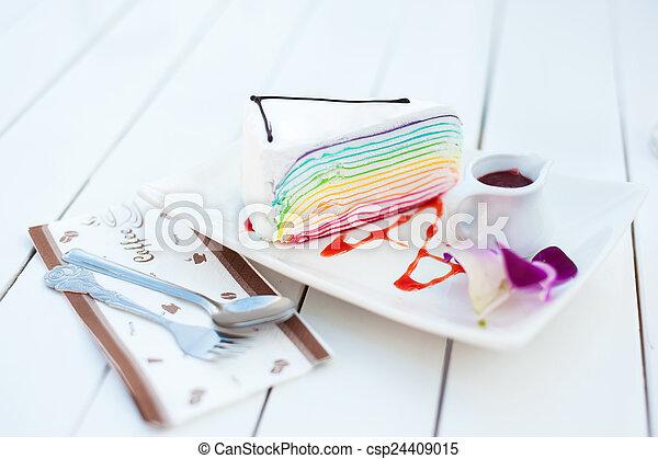 Various Pieces of cake - csp24409015