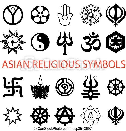 Vector Various Religious Symbols Vectors Illustration Search