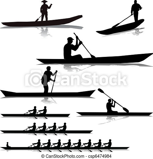 Various river rowers - csp6474984