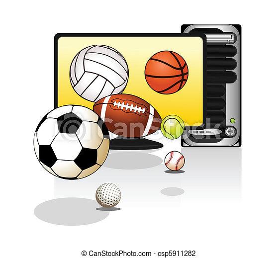 Various sports balls - csp5911282