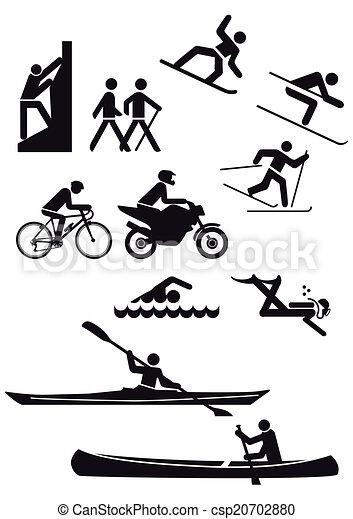 Various sports characters - csp20702880