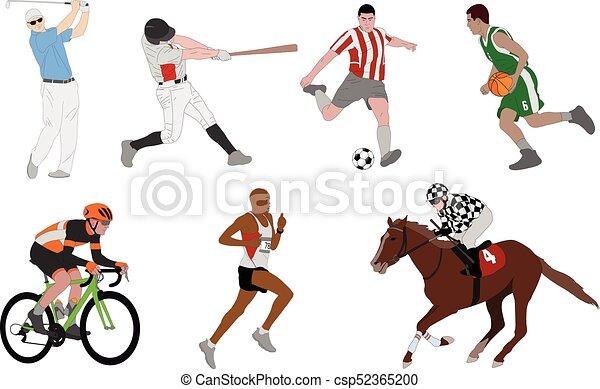 Various sports detailed illustration - csp52365200
