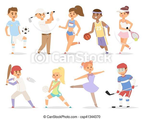 Various sports people. - csp41344370
