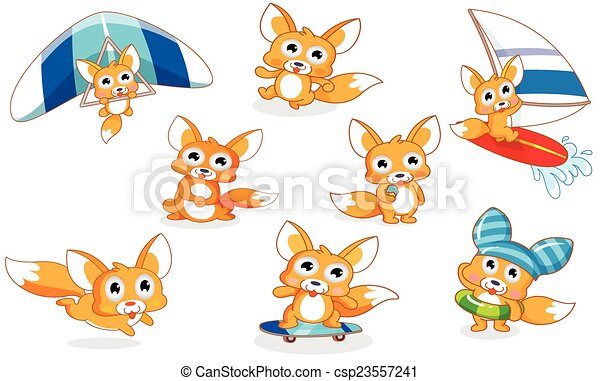 various styles cartoon squirrel - csp23557241