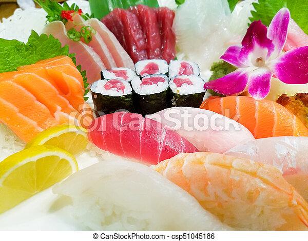 Various Sushi Close-up - csp51045186