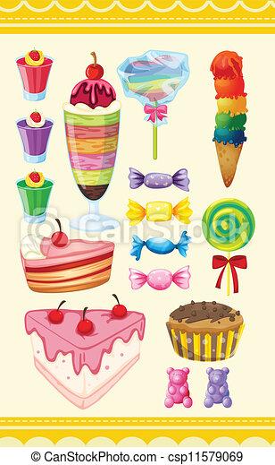 various sweets - csp11579069