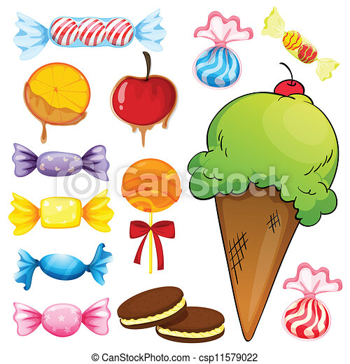 various sweets - csp11579022
