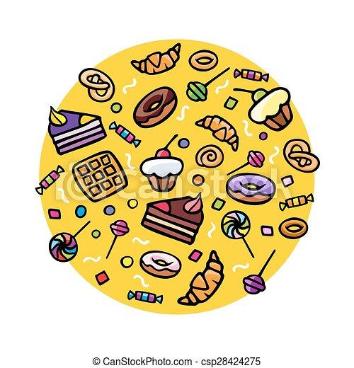 Various Sweets - csp28424275