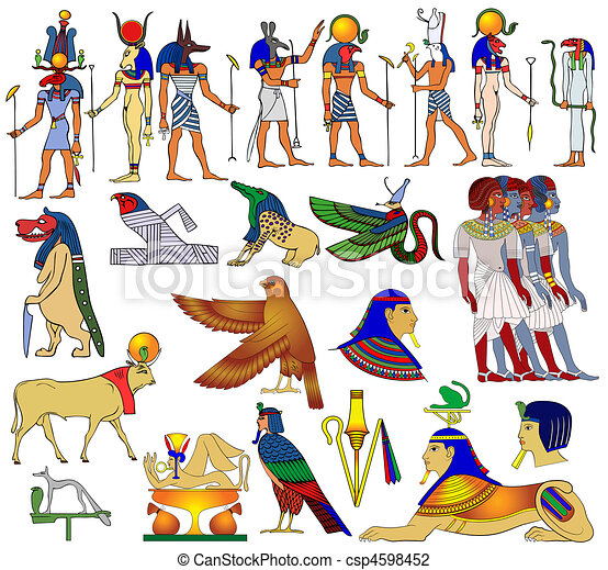 Various themes of ancient Egypt - csp4598452