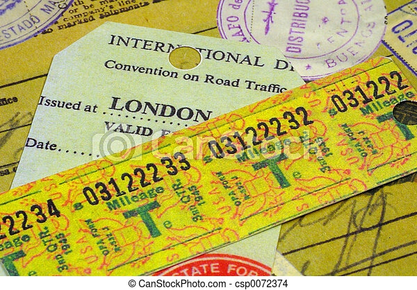 Various Travel Receipts - csp0072374