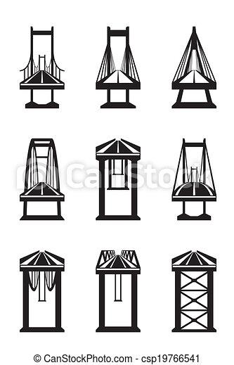 Various types of bridges - csp19766541