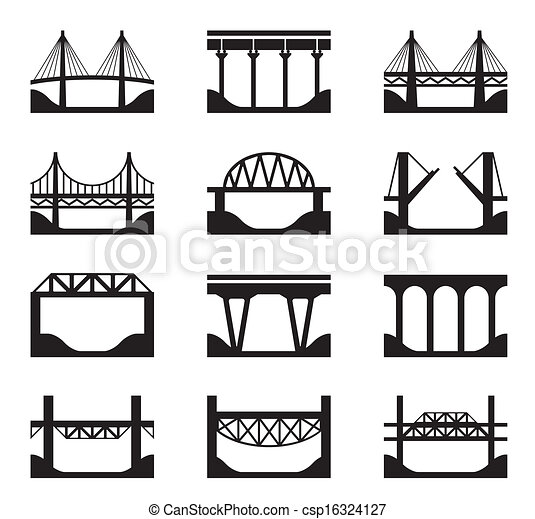 Various types of bridges - csp16324127