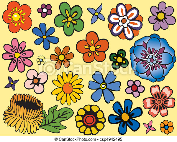 Various Unique Flowers - csp4942495