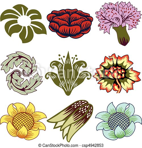 Various Unique Flowers - csp4942853