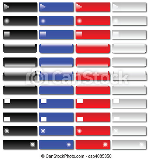 Various Web Buttons - csp4085350