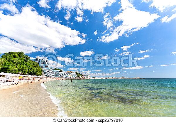 Varna beach on Black sea - csp26797010