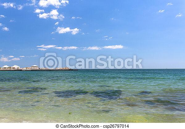 Varna beach on Black sea - csp26797014