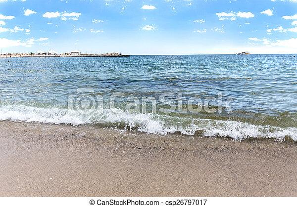 Varna beach on Black sea - csp26797017