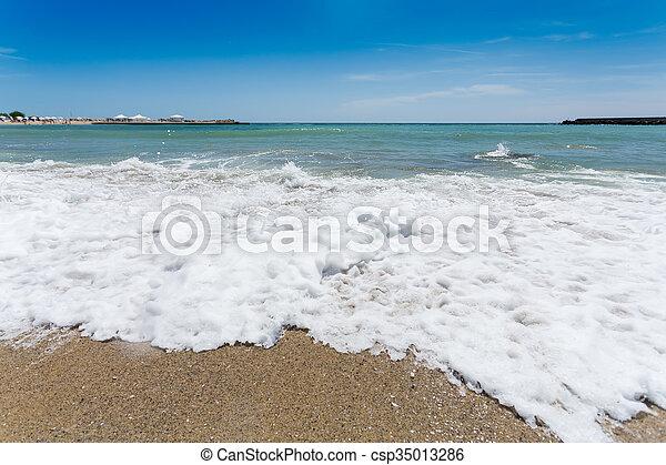 Varna beach on Black sea - csp35013286