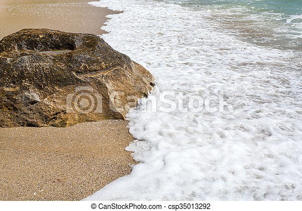 Varna beach on Black sea - csp35013292