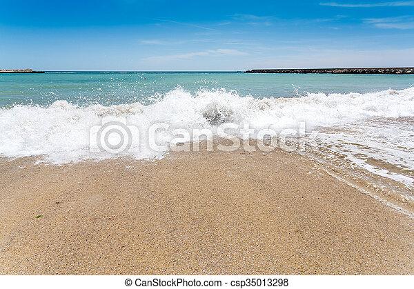 Varna beach on Black sea - csp35013298