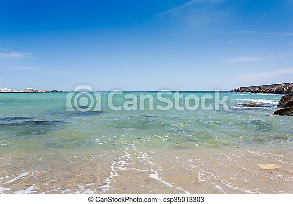 Varna beach on Black sea - csp35013303