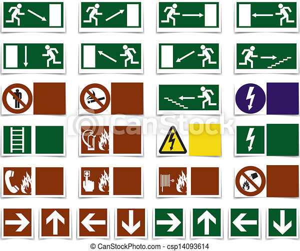 Varning danger symbols, sign - csp14093614