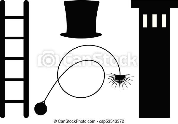 varredor, símbolo, chaminé - csp53543372